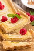 Apple tart with frangipane — Stock Photo