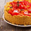 Stock Photo: Savoury cheesecake with tomatoes
