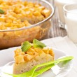 Savoury cake with potatoes — Stock Photo