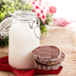 Stock Photo: Chocolate cookies for Christmas