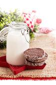 Chocolate cookies for Christmas — Stock Photo