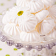 Stock Photo: Meringues on cake stand