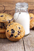 Healthy blueberry banana muffins — Stock Photo