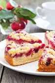 Raspberry cake on a plate — Stock Photo