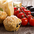 Stock Photo: Savoury muffins with parmescheese