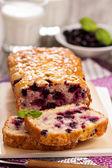 Black currant loaf cake — Stock Photo