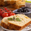 Stock Photo: Savoury loaf cake