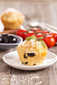 Savoury muffins with parmesan cheese — Stock Photo