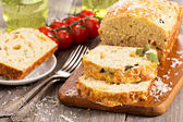 Savoury loaf cake — Stock Photo