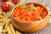Baked vegetables pasta sauce — Stock Photo