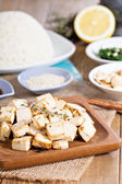 Baked tofu with spices — Stock Photo
