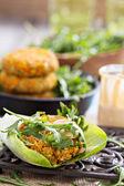 Vegan burgers with sweet potato and chickpeas — Foto de Stock