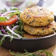 Vegan burgers with quinoa and vegetables — Stock Photo