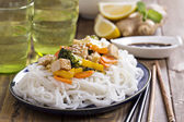 Tofu stir fry with vegetables — Stock Photo