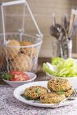 Vegan burgers with cauliflower — Stock Photo