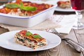 Vegan lasagna with tofu — Stock Photo