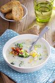 Sopa de brócolis e milho — Fotografia Stock
