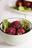 Beetroot falafel — Stock Photo