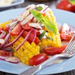 Salad with baked corn — Stock Photo #43681525