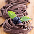 Chocolate pasta — Stock Photo