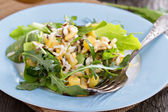 Salad with baked potato, rice and greens — Stock Photo