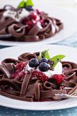 Chocolate pasta — Stock Photo