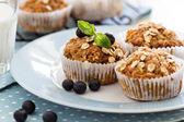 Vegan banana carrot muffins — Stock Photo