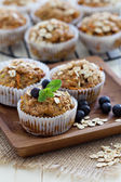 Vegan banana carrot muffins — Stok fotoğraf