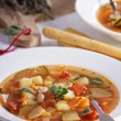 Soup with vegetables and beans — Stock Photo #43954373
