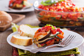 Ratatouille on a plate — Stock Photo