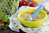 Chicken soup with meatballs — Foto de Stock