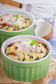 Baked omelet with vegetables — Stock Photo