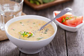 Vegetables and corn chowder — Stock Photo
