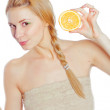 Young woman with oranges — Stock Photo #12873880