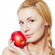 Woman with red apple — Stock Photo #12874719