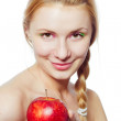 Woman with red apple — Stock Photo #12874720