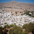 Aerial view of the town in Greece — Stockfoto