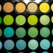 Makeup set. Professional multicolor eyeshadow palette — ストック写真