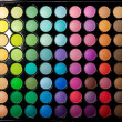 Makeup set. Professional multicolor eyeshadow palette — Stock Photo #13132505