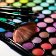 Makeup set. Professional multicolor eyeshadow palette — Stock Photo #13132581