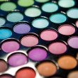 Makeup set. Professional multicolor eyeshadow palette — Stock Photo #13132602