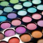 Makeup set. Professional multicolor eyeshadow palette — Stock Photo