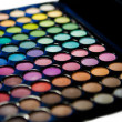 Makeup set. Professional multicolor eyeshadow palette — Stock Photo #13132604