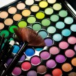 Makeup set. Professional multicolor eyeshadow palette — Stock Photo #13132620