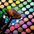 Makeup set. Professional multicolor eyeshadow palette — Stock Photo #13132621