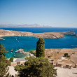 Greek islands - Rhodes, Lindos bay — Stock Photo #13175755