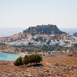 Akropolis von Lindos - Stok fotoraf