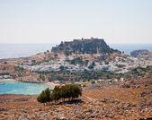 Akropolis von lindos — Foto Stock