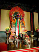 Palden Lhamo statue in temple — Stock Photo
