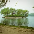 Chinese bridge over the Summer Palace lake. — ストック写真